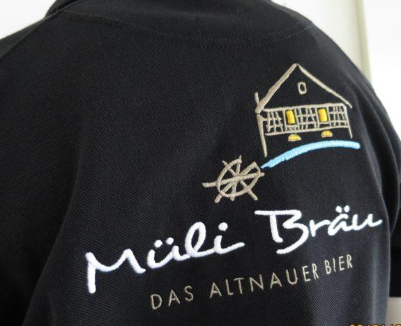 Schwarzes T-Shirt für Müli Bräu