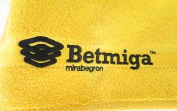 Stickerei auf Handtücher mit Firmenlogo.